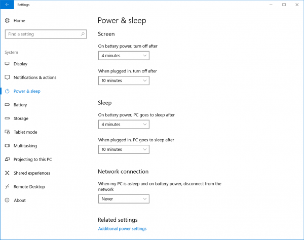 Power & sleep